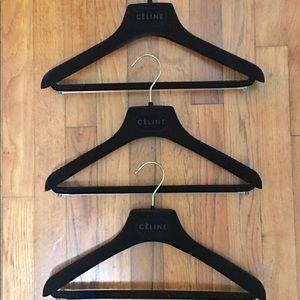 New & Authentic CÉLINE Hanger 3 pc Bundle